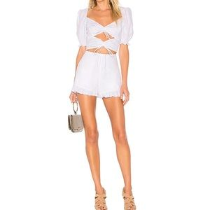 NWT For Love and Lemons White Cutout Romper